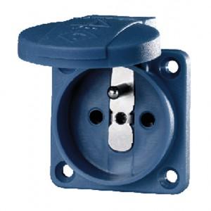 Grounding-type panel mounted socket