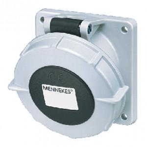 Panel mounted socket with TwinCONTACT