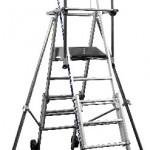 Sherpascopic - Telescopic work platform fixed railings