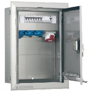 Stainless steel flush-mounted combination unit