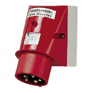 Wall mounted phase inverter inlet