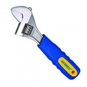 Adjustable Wrench - Rubber Grip Handle