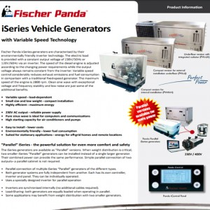ISERIES VEHICLE GENERATORS