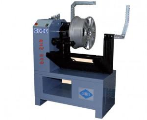 Rim straightening machine and lathe